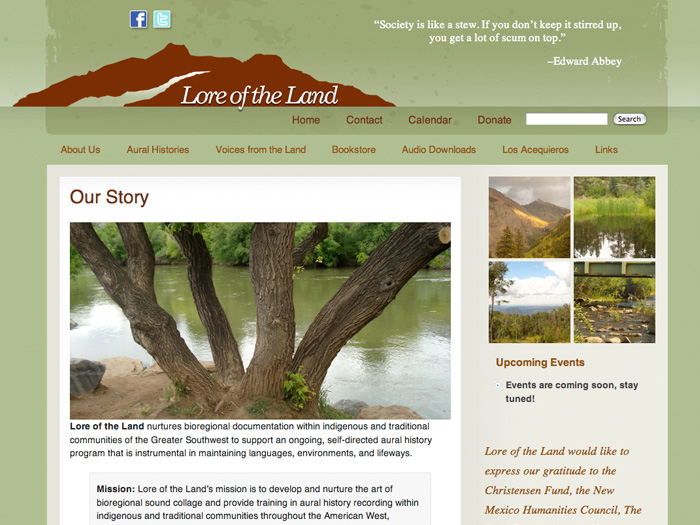 Lore of the Land Website