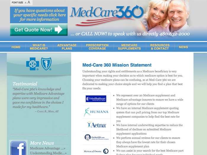 Med-Care360 Website