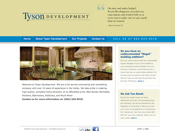 Tyson Development Website